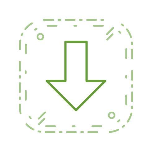 Down Vector Icon