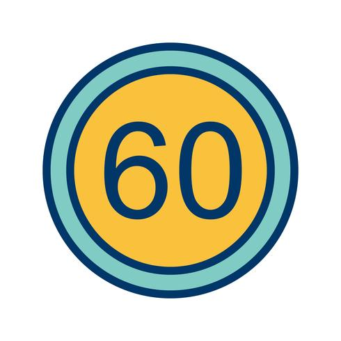 Vector Speed limit 60 Icon