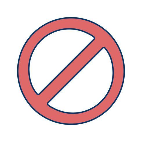 Forbidden Vector Icon