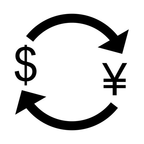 Exchange yen With Dollar Vector Icon