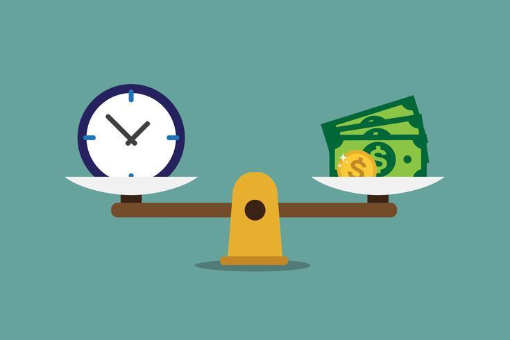 Zeit ist Geld vektor