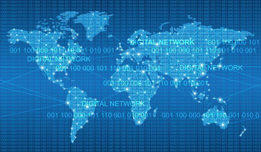 Nahtlose Karte des globalen Netzwerksystems.