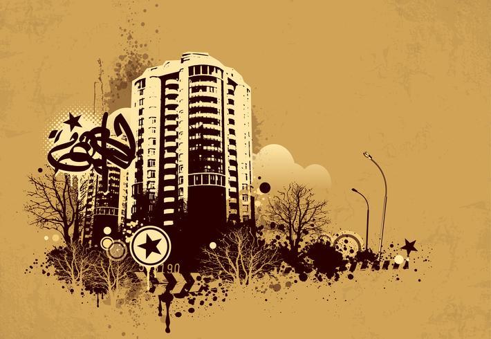 Grunge stedelijke achtergrond