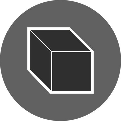icône de vecteur de cube