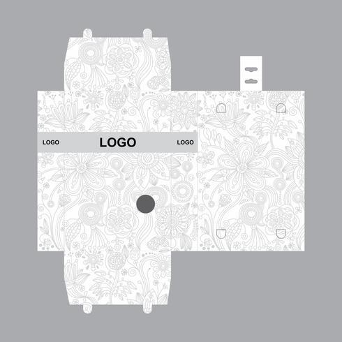 Schachtel Verpackungsdesign Vorlage