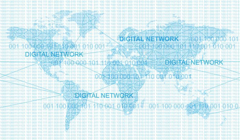 Naadloze kaart van het wereldwijde netwerksysteem.