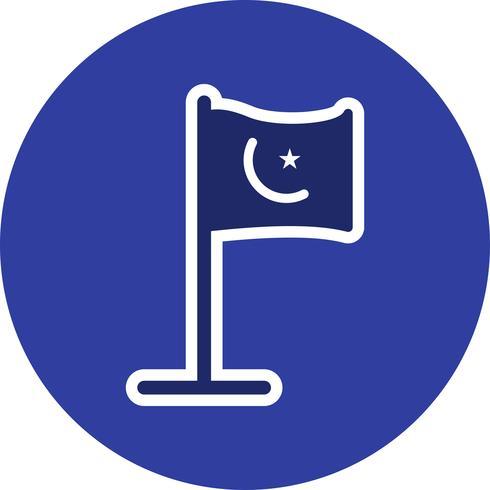 Icono de Vector de bandera islámica