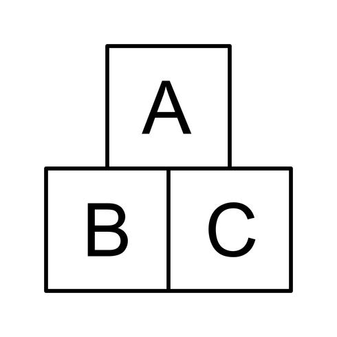 ABC Cubes Vector Icon