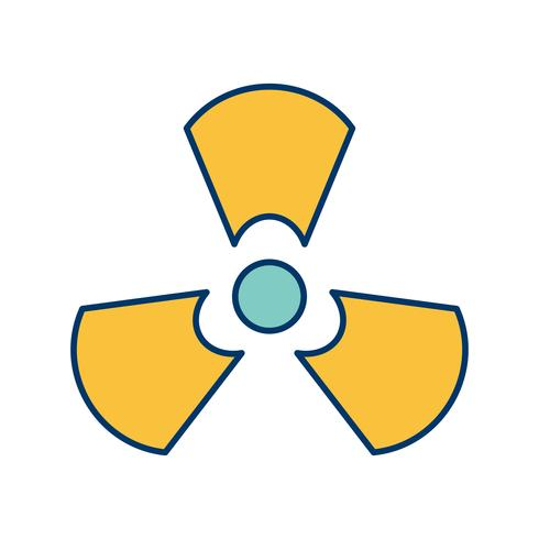 Strahlungs-Vektor-Symbol