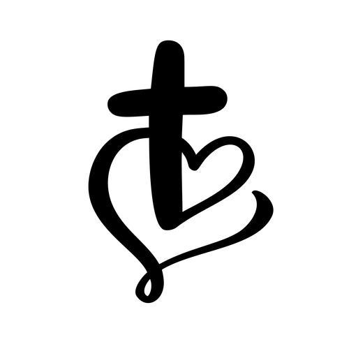 Illustration vectorielle du logo chrétien. Emblème avec Croix et Sainte Bible. Communauté religieuse. Élément de design pour affiche, logo, badge, signe
