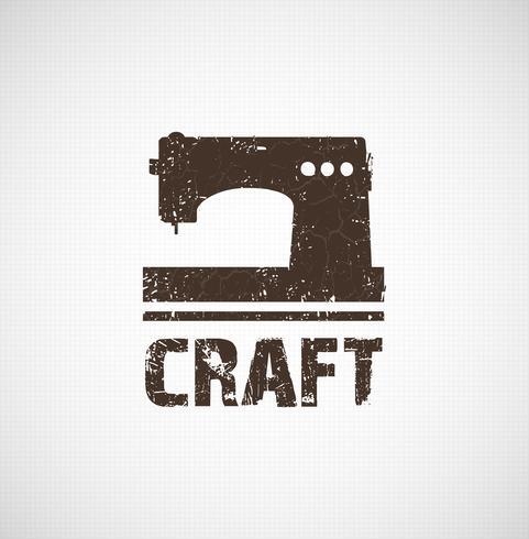 Craft logo business idea. Tool of design