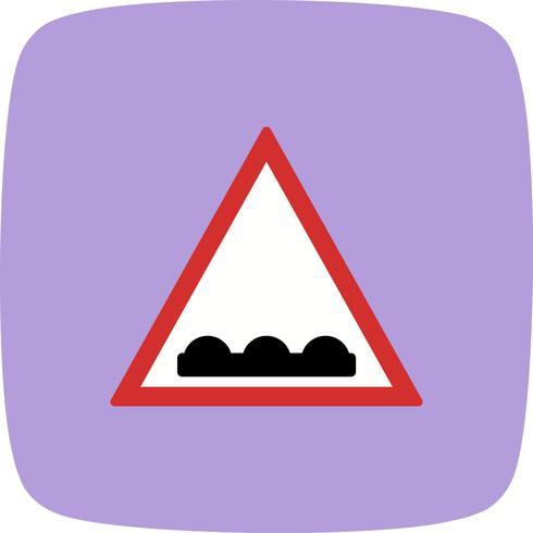 Icona di strada irregolare vettoriale
