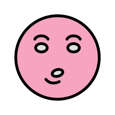 Whistle Emoji Vector Icon