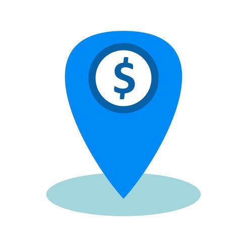 Ícone de vetor de localização de negócios