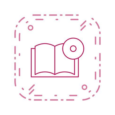 Buch-DVD-Vektor-Symbol