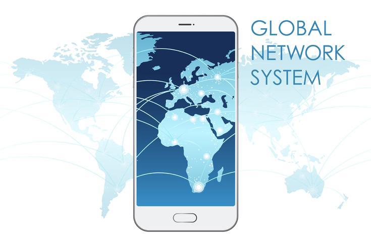 Global nätverkssystem koncept illustration.