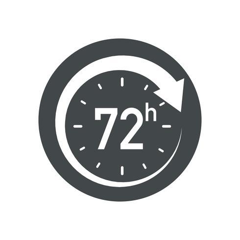72h icon. vector