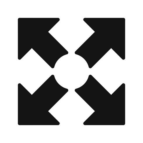 Plein écran vecteur icône