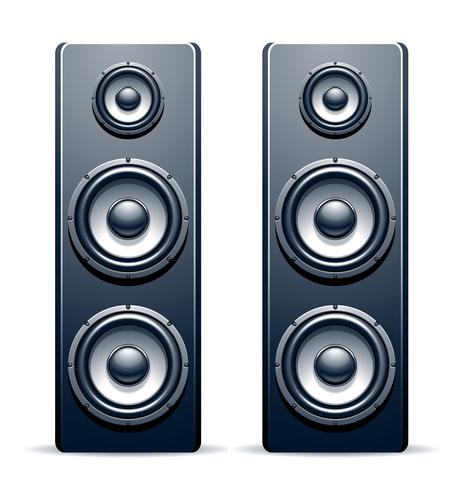 Deux haut-parleurs