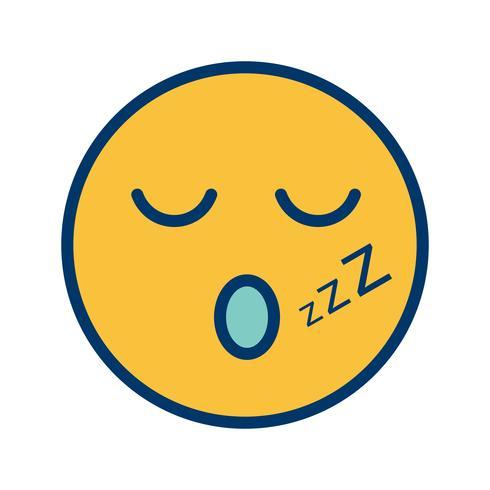 Schlaf Emoji Vector Icon