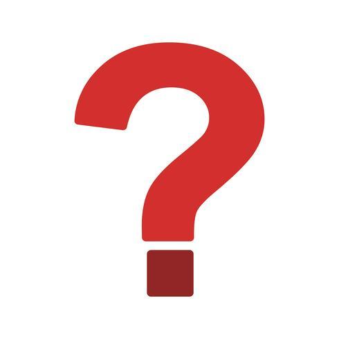 Icono de signo de interrogación vector