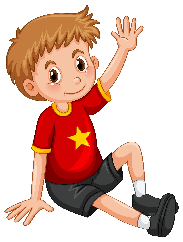Little boy waving hand hello - Download Free Vectors ...