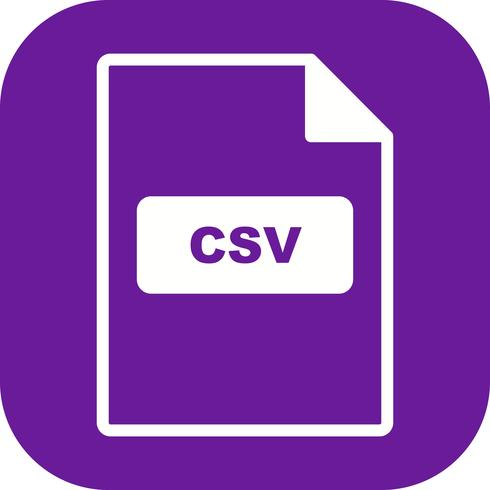 icono de vector csv