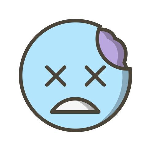 Ícone de vetor de emoji zumbi