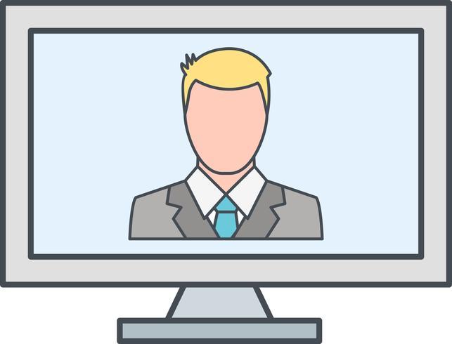 Online-Arbeit-Vektor-Symbol