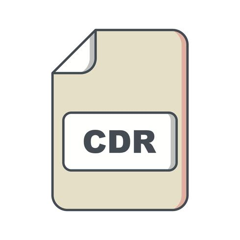 CDR Vector pictogram