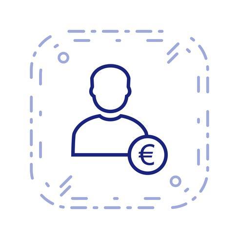 Euro mit Mann Vektor Icon
