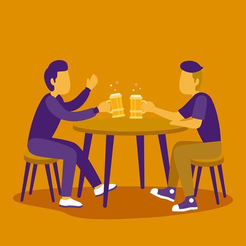 Kerle, die Bier-Vektor trinken
