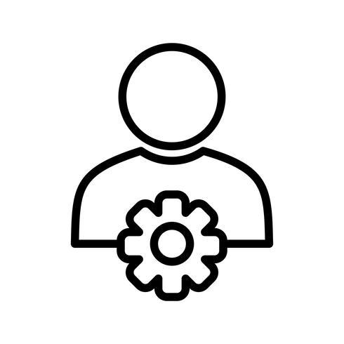 Ícone de vetor de gerenciamento de usuário