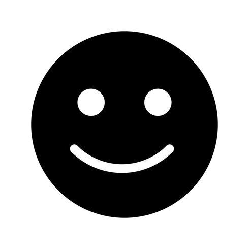 Emoticon feliz Vector icono