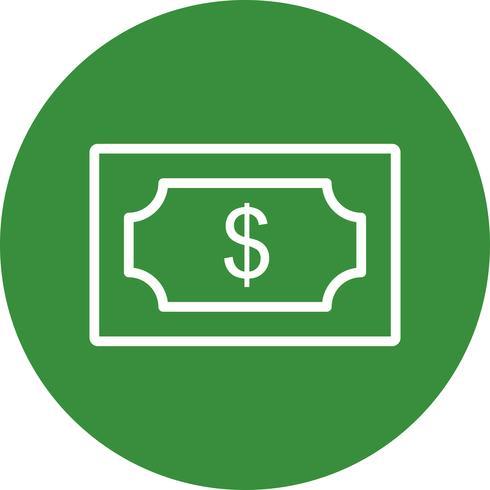 dollar vektor ikon