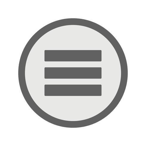 Menü-Vektor-Symbol