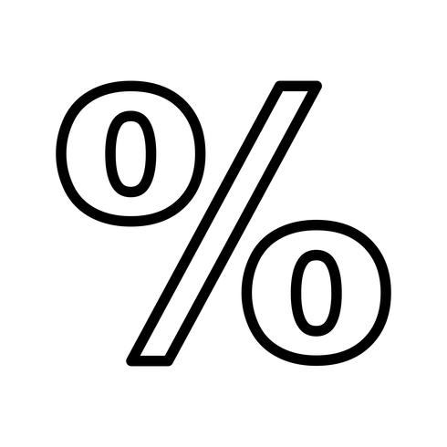 Percentage Vector Icon