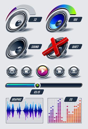 Vektorsatz musikalische Elemente