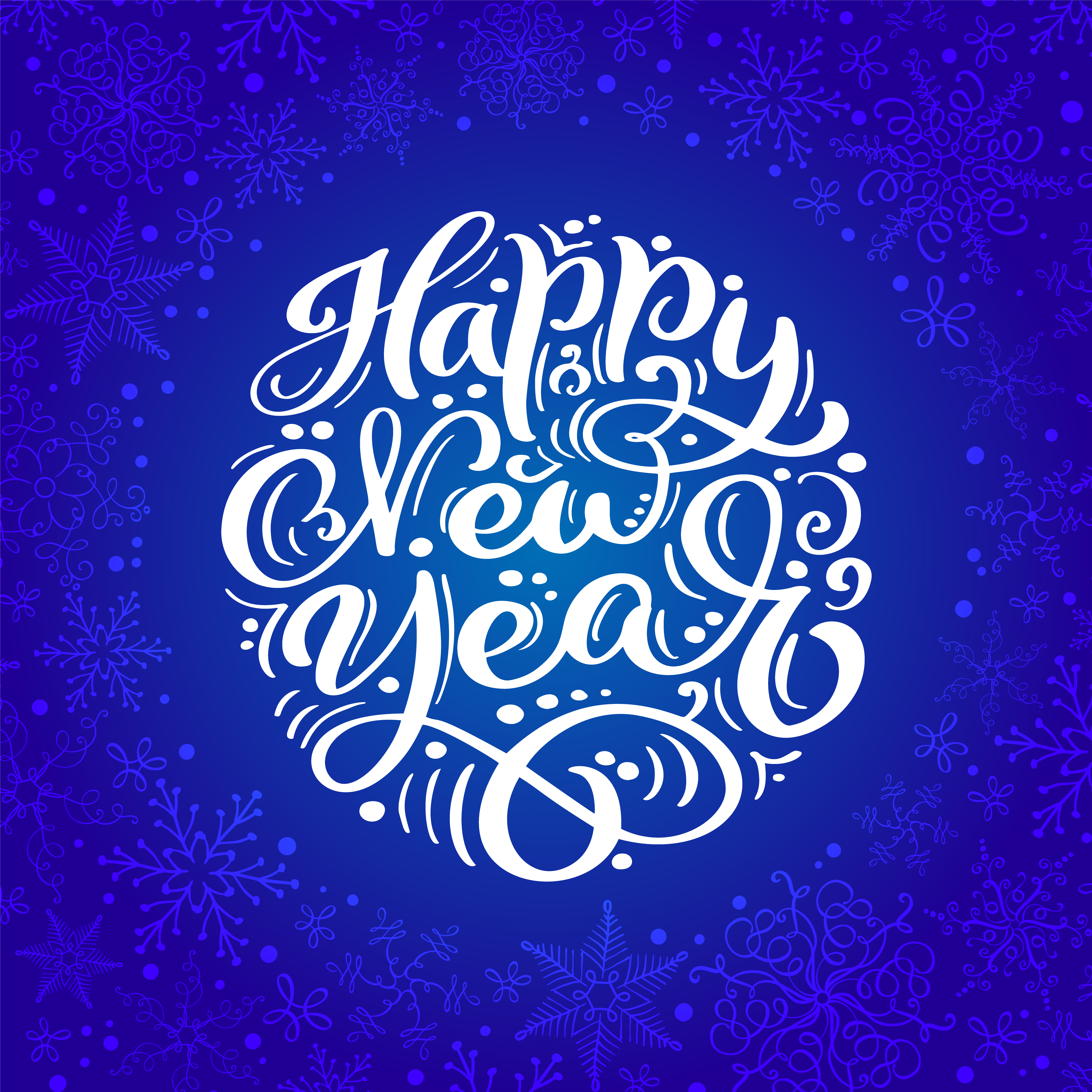 Happy New Year vector text Calligraphic Lettering design ...