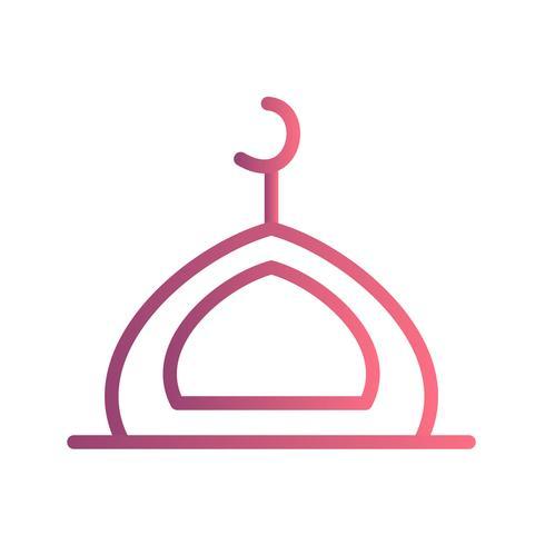 Icono de vector de la mezquita