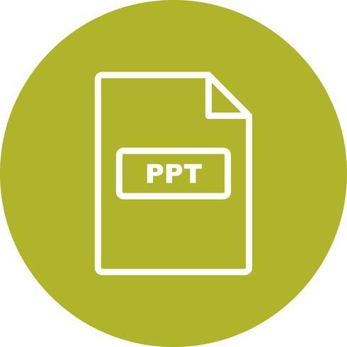 Icône de vecteur PPT