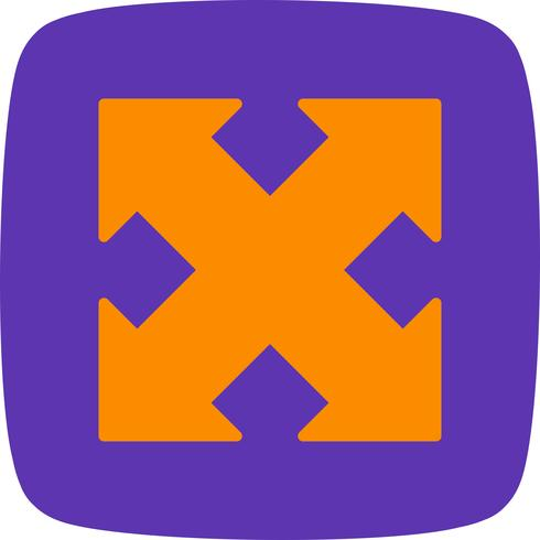 Vector pictogram uitvouwen