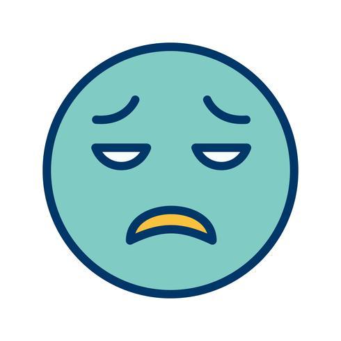 Decepcionado Emoji Vector Icon