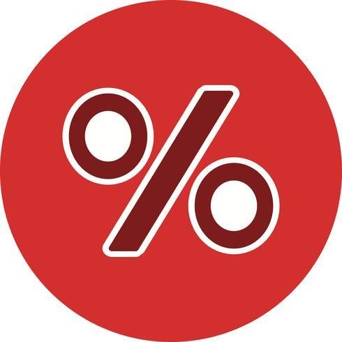 Icona di vettore di percentuale