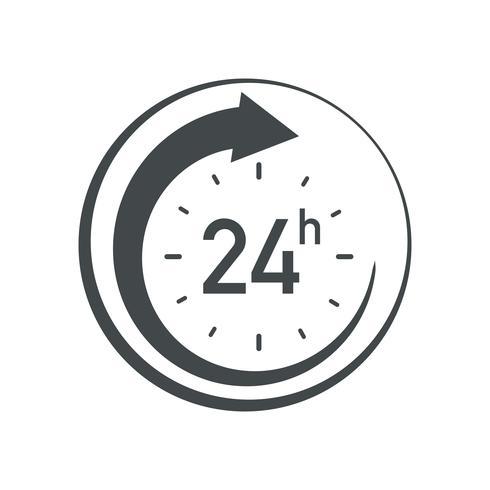 24 uur pictogram