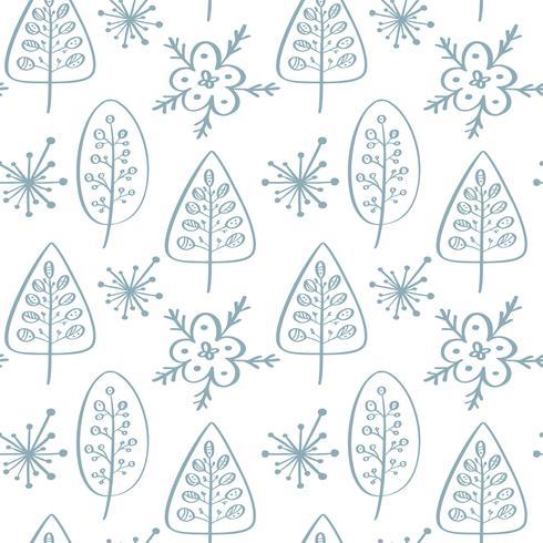 Julvektor sömlöst mönster i skandinavisk stil. Bäst för kudde, typografi design, gardiner