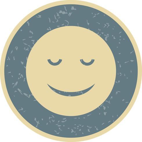 Ruhige Emoji-Vektor-Ikone