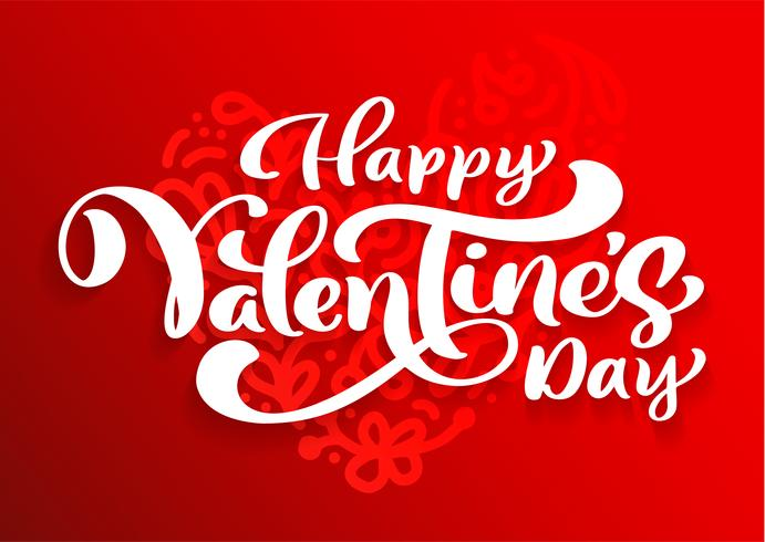 Happy Valentines Day typography vector design for greeting cards and poster. Valentine vector text on a red holidays background. Design template celebration illustration