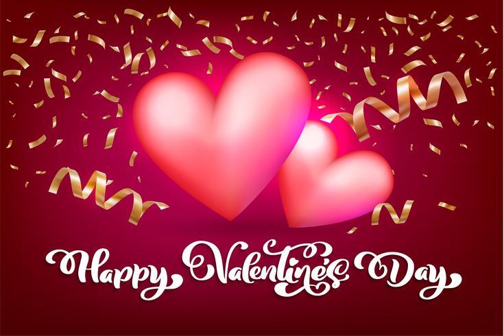 Diseño vectorial de feliz día de San Valentín tipografía para tarjetas de felicitación y póster