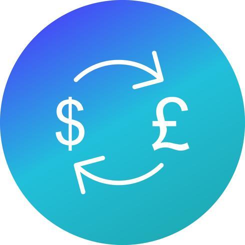 Wissel pond met Dollar Vector Icon